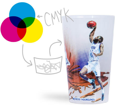 Quadricromia gots reciclables